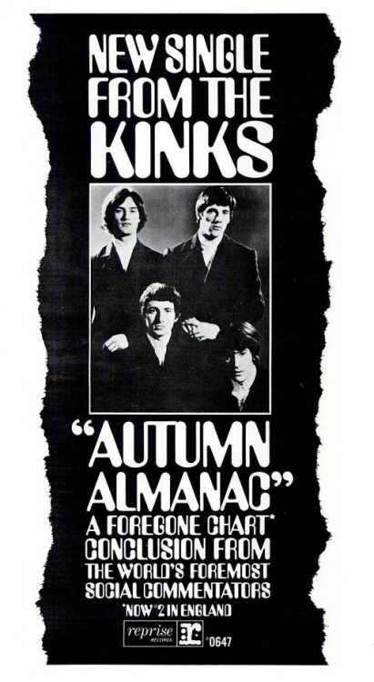 kinks autumn almanac ad
