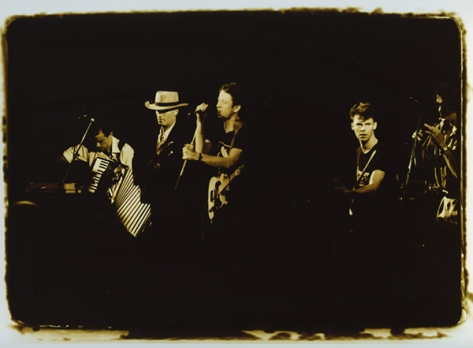 The Pogues with Shane MacGowan, Jem Finer, Darryl Hunt, Spider, James Fearnley, James McNally.