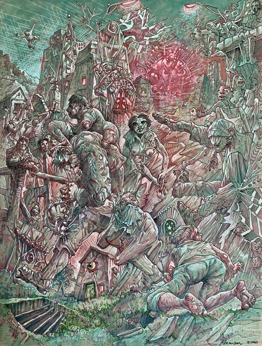 When The World Changed, Peter Howson 2020
